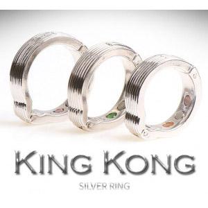 [킹콩링/실버] 24K 백금 도금 마그네틱&캣츠아이 고급링4단계 크기조절